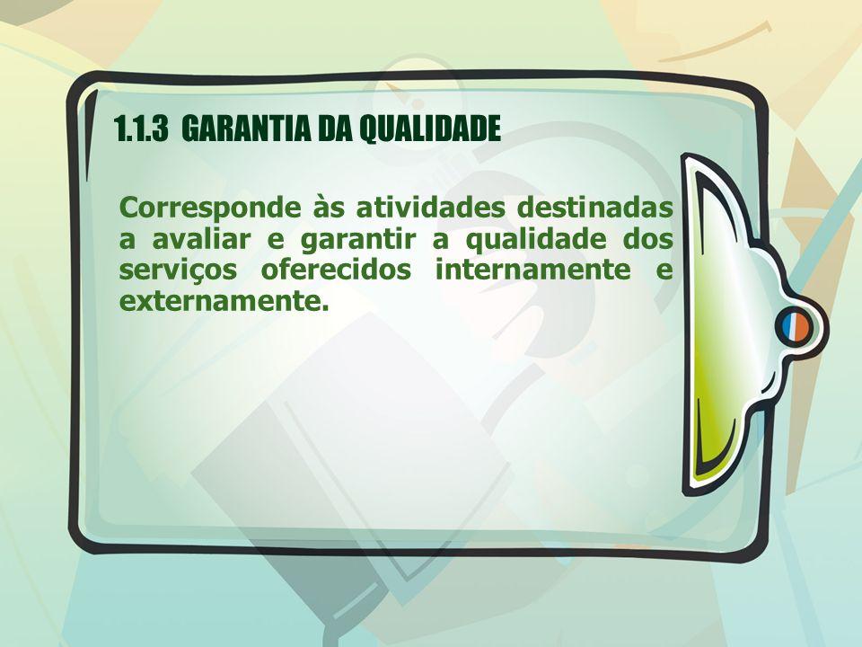 1.1.3 GARANTIA DA QUALIDADE