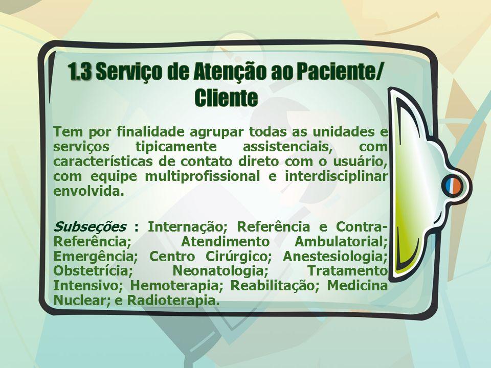 1.3 Serviço de Atenção ao Paciente/ Cliente