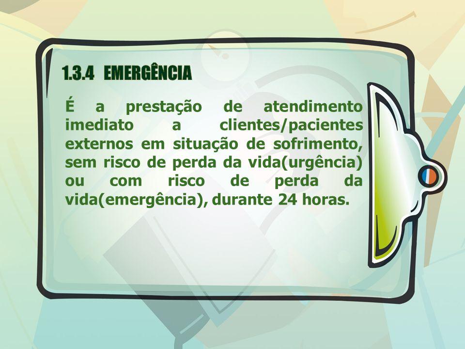 1.3.4 EMERGÊNCIA