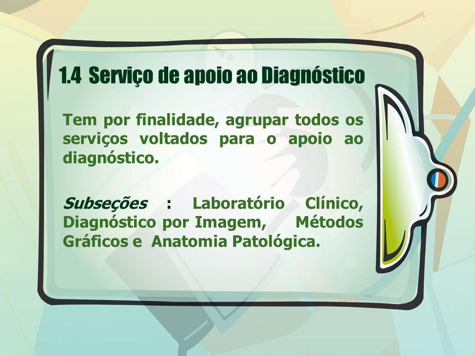 1.4 Serviço de apoio ao Diagnóstico