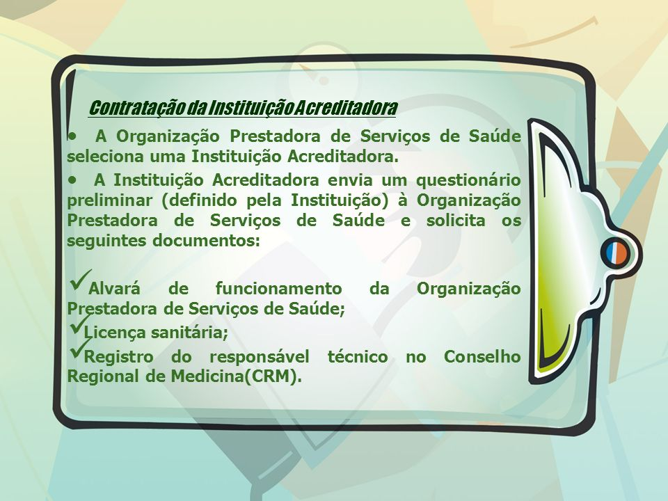 Contratação da Instituição Acreditadora
