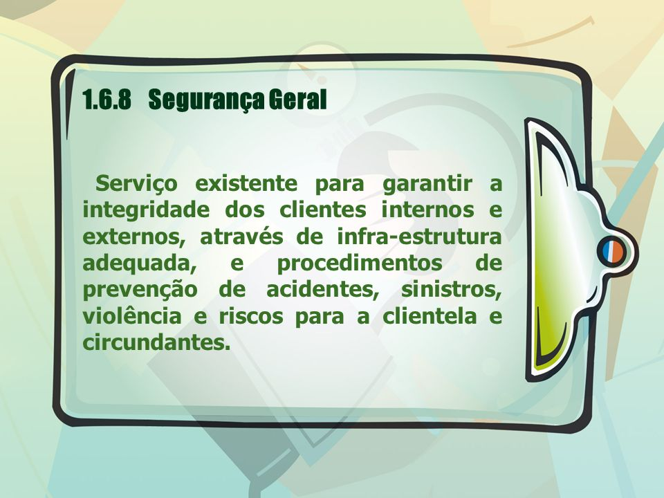 1.6.8 Segurança Geral