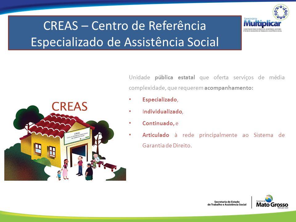 CREAS – Centro de Referência Especializado de Assistência Social