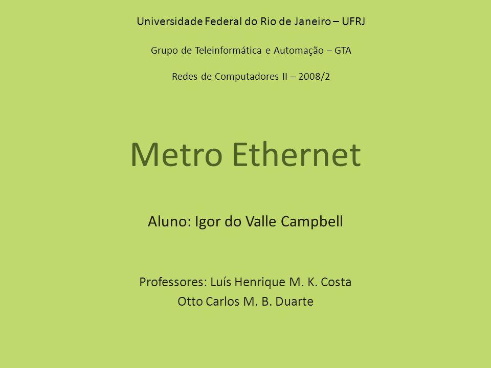 Metro Ethernet Aluno: Igor do Valle Campbell