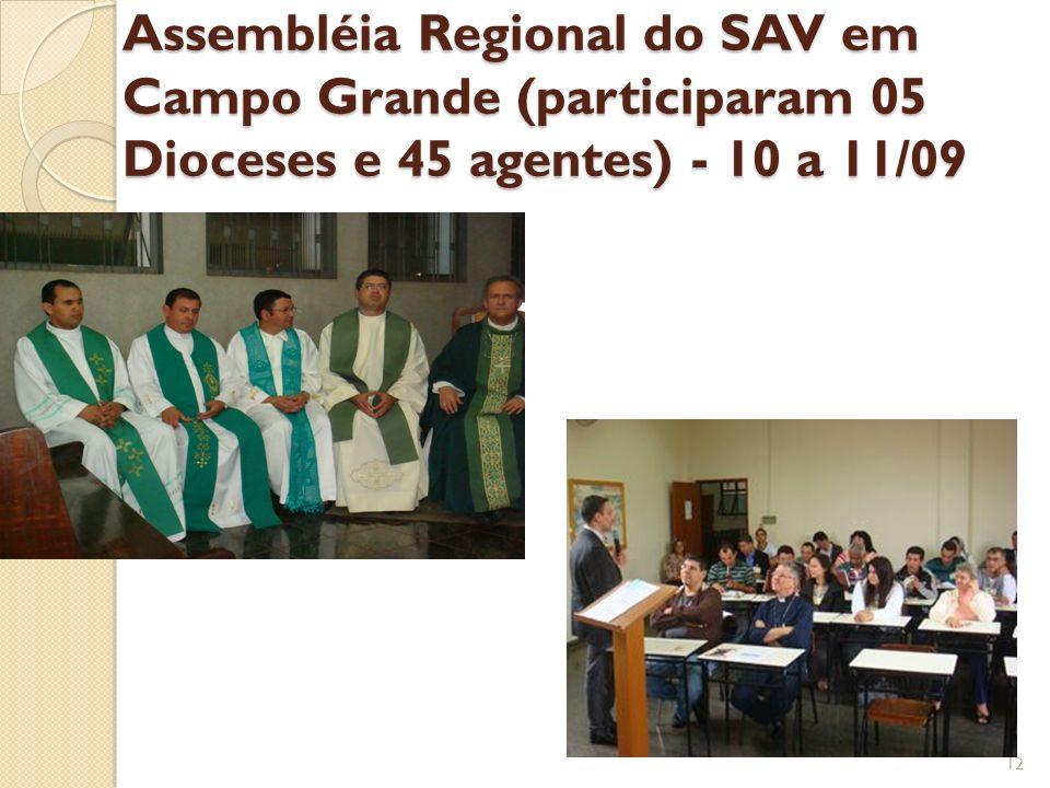 Assembléia Regional do SAV em Campo Grande (participaram 05 Dioceses e 45 agentes) - 10 a 11/09