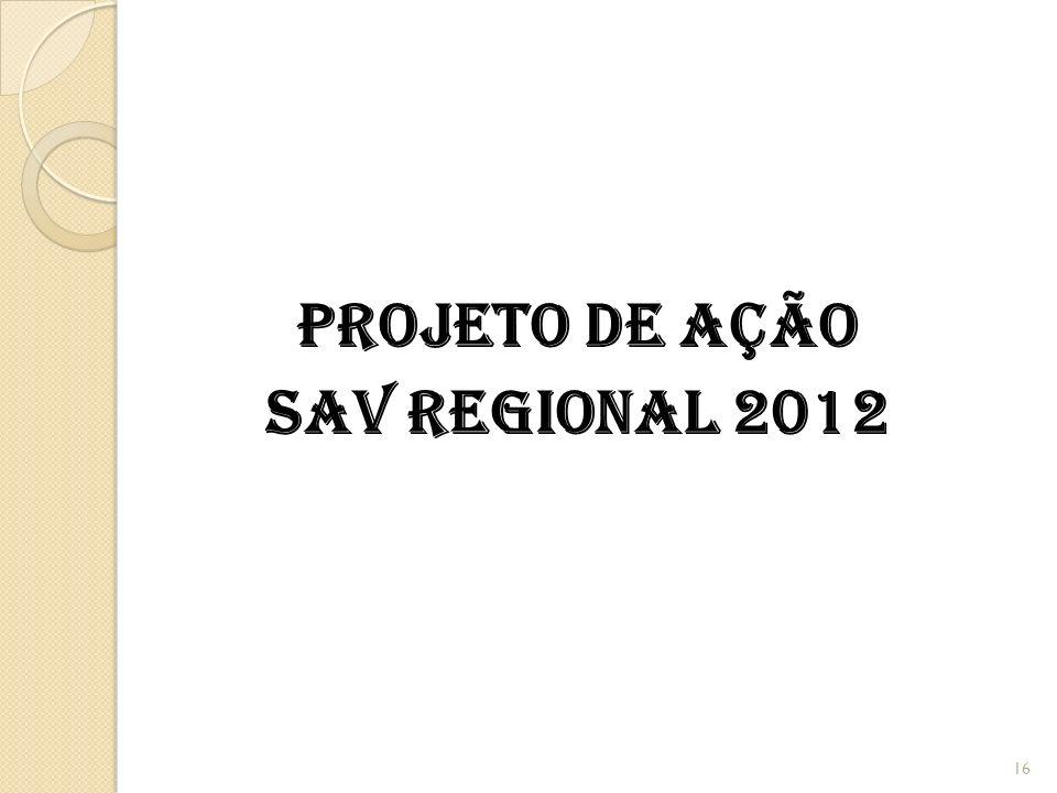 PROJETO DE AÇÃO SAV REGIONAL 2012