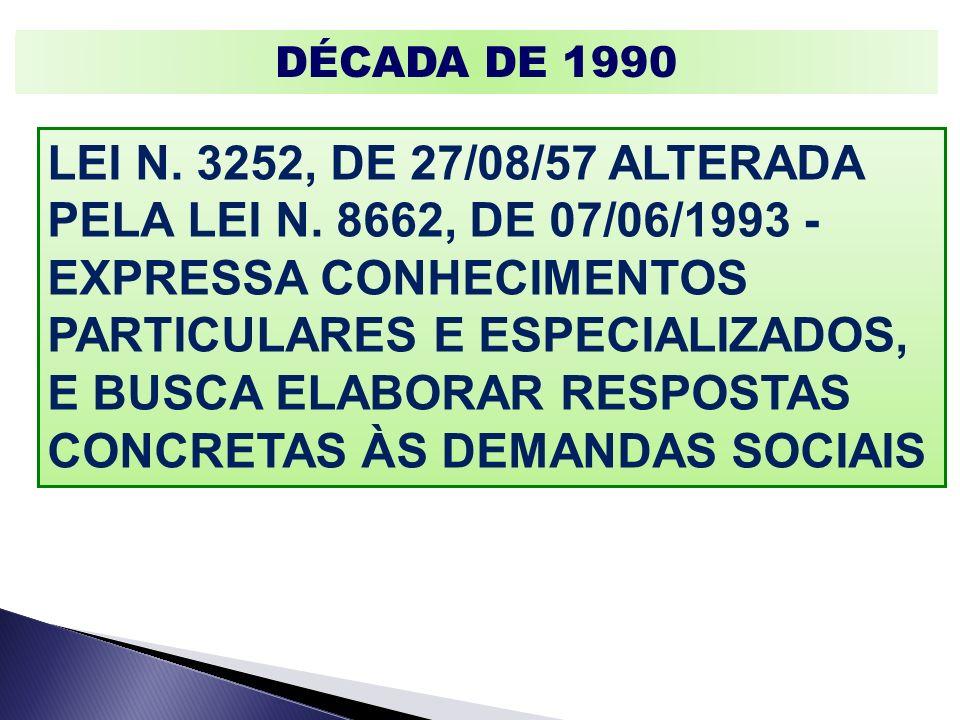 LEI N. 3252, DE 27/08/57 ALTERADA PELA LEI N. 8662, DE 07/06/1993 -