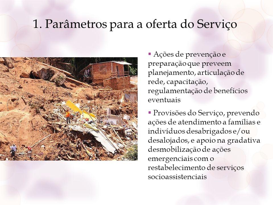 1. Parâmetros para a oferta do Serviço