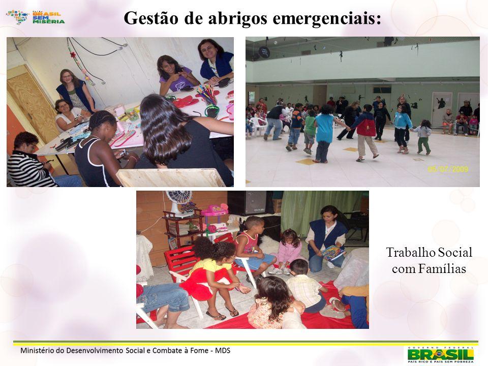 Gestão de abrigos emergenciais: