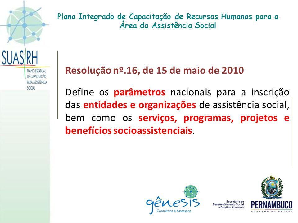 Resolução nº.16, de 15 de maio de 2010