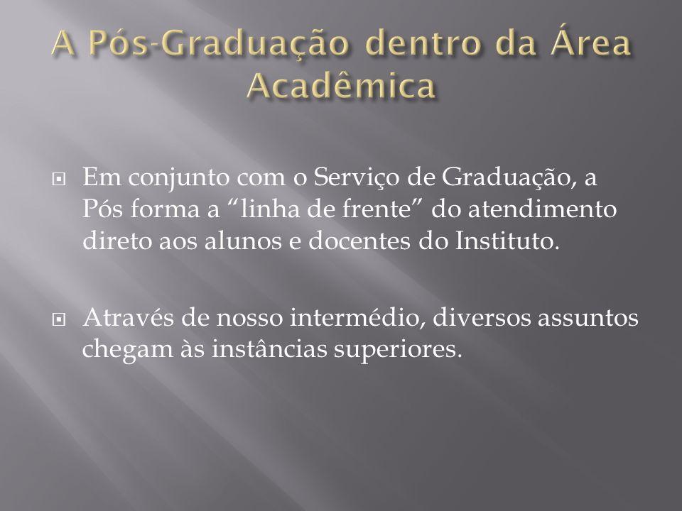 A Pós-Graduação dentro da Área Acadêmica