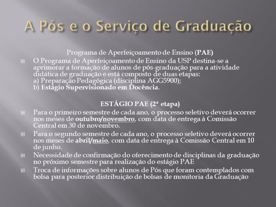 A Pós e o Serviço de Graduação