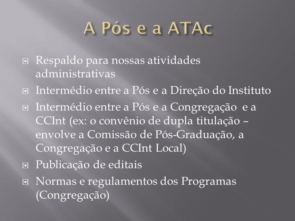 A Pós e a ATAc Respaldo para nossas atividades administrativas