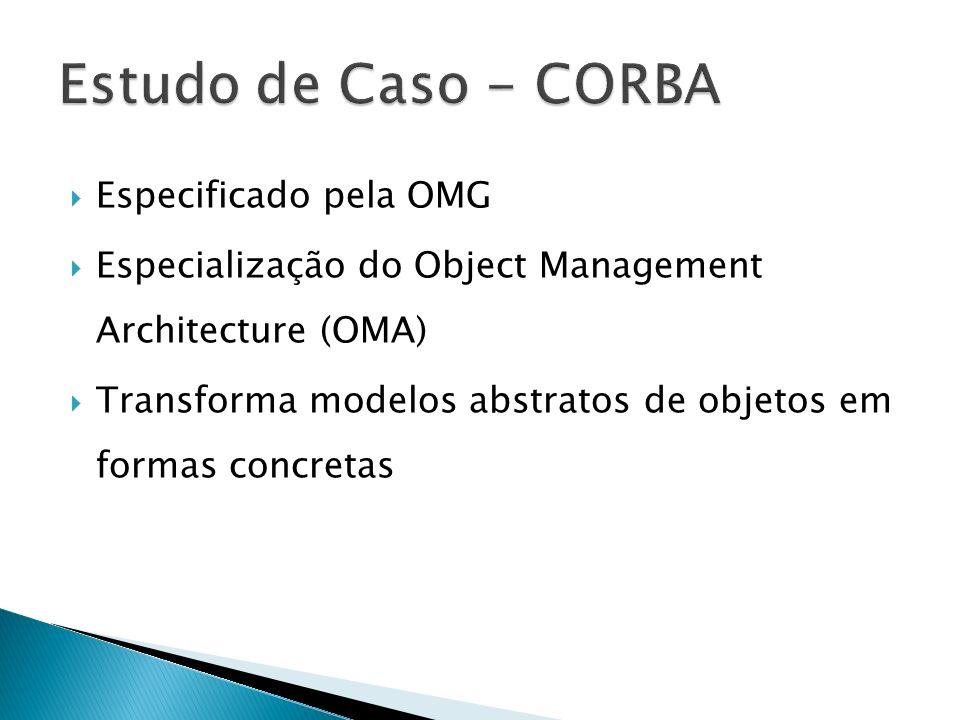 Estudo de Caso - CORBA Especificado pela OMG