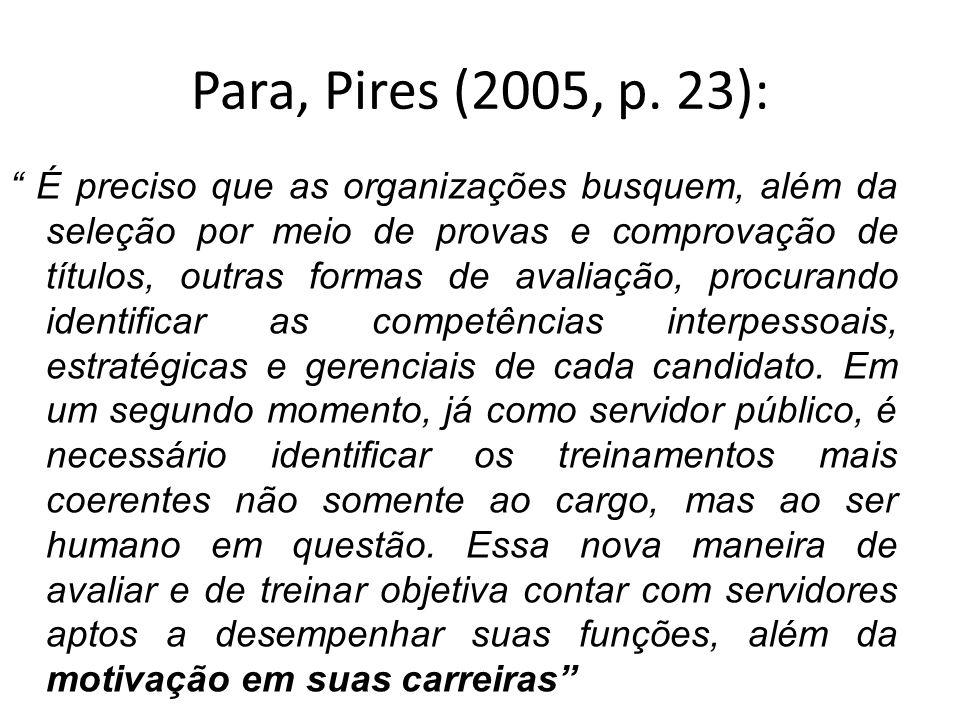 Para, Pires (2005, p. 23):