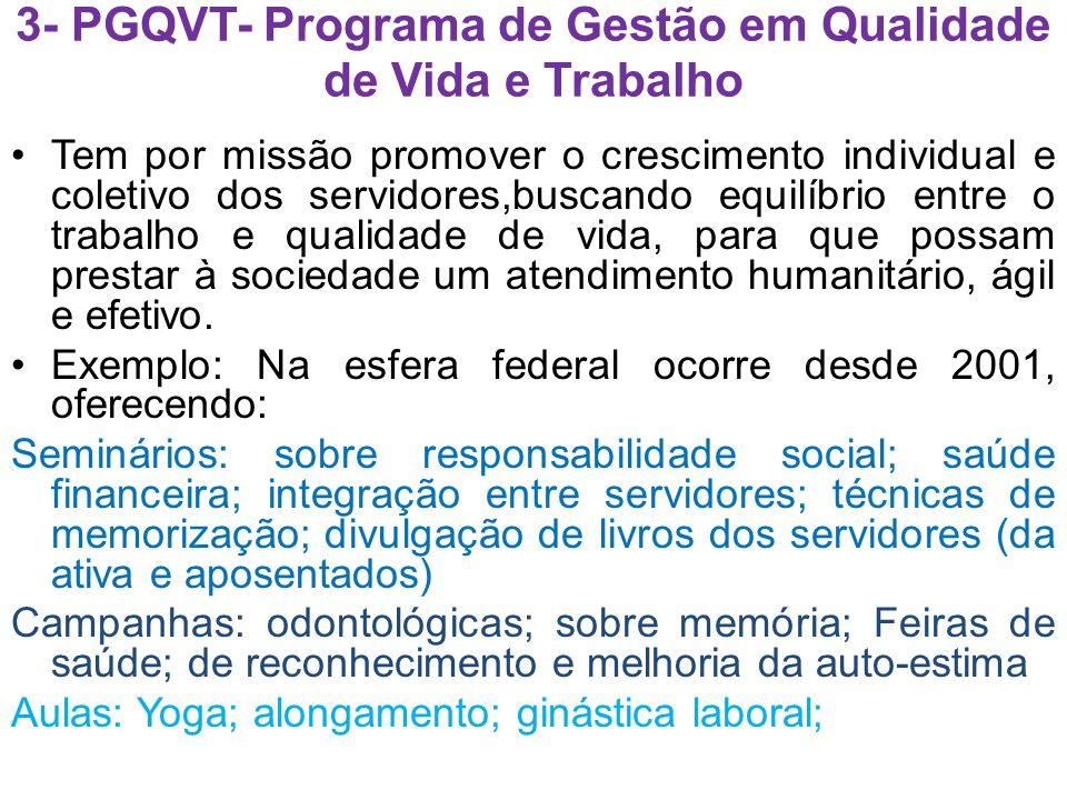 3- PGQVT- Programa de Gestão em Qualidade de Vida e Trabalho