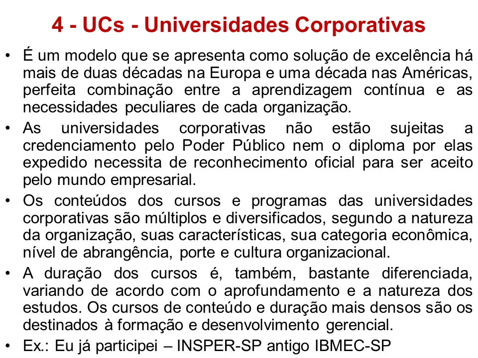 4 - UCs - Universidades Corporativas
