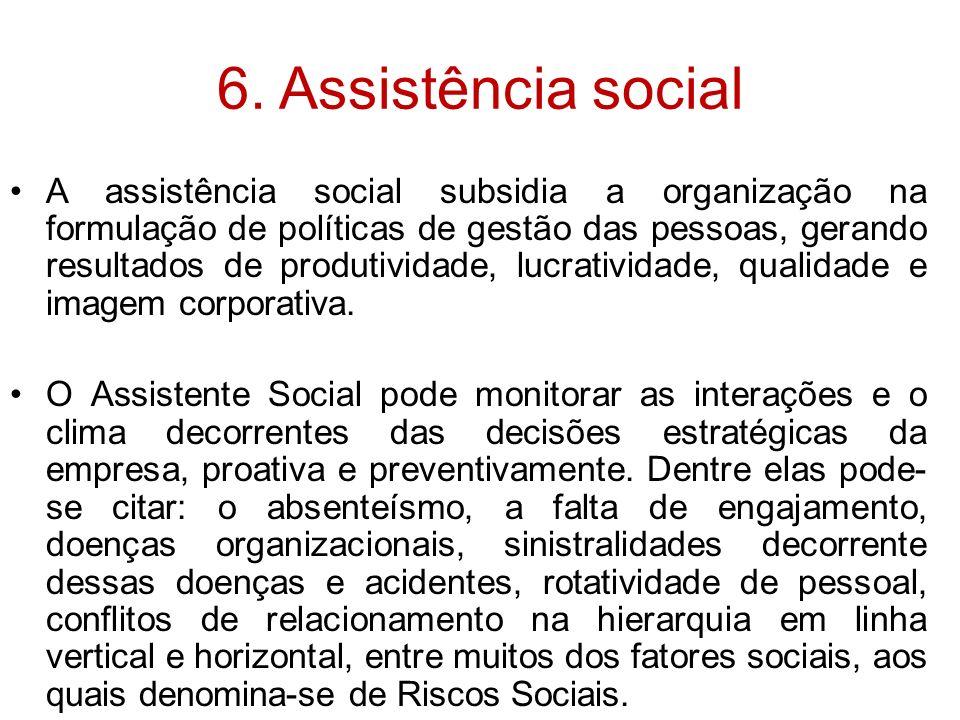 6. Assistência social