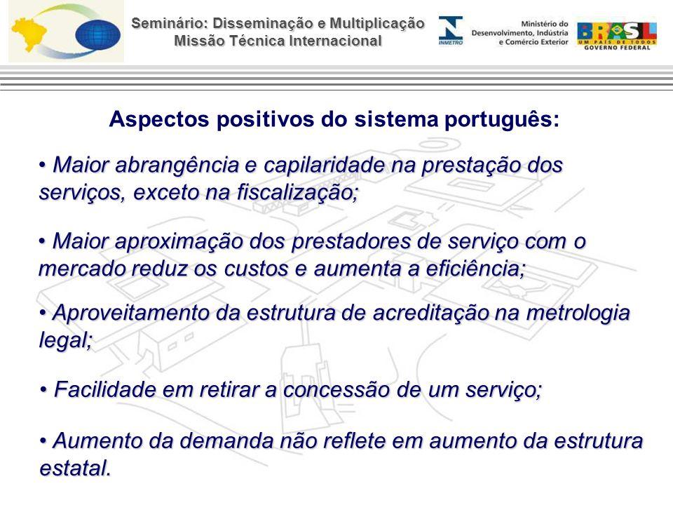 Aspectos positivos do sistema português: