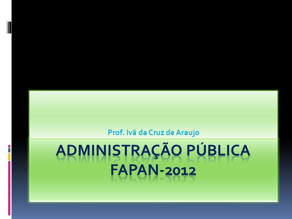 Administração Pública FAPAN-2012