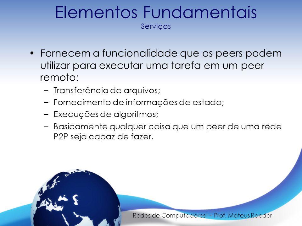 Elementos Fundamentais Serviços