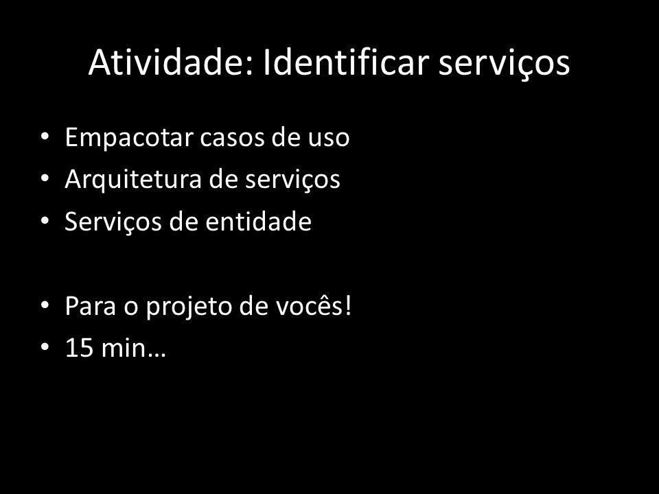 Atividade: Identificar serviços