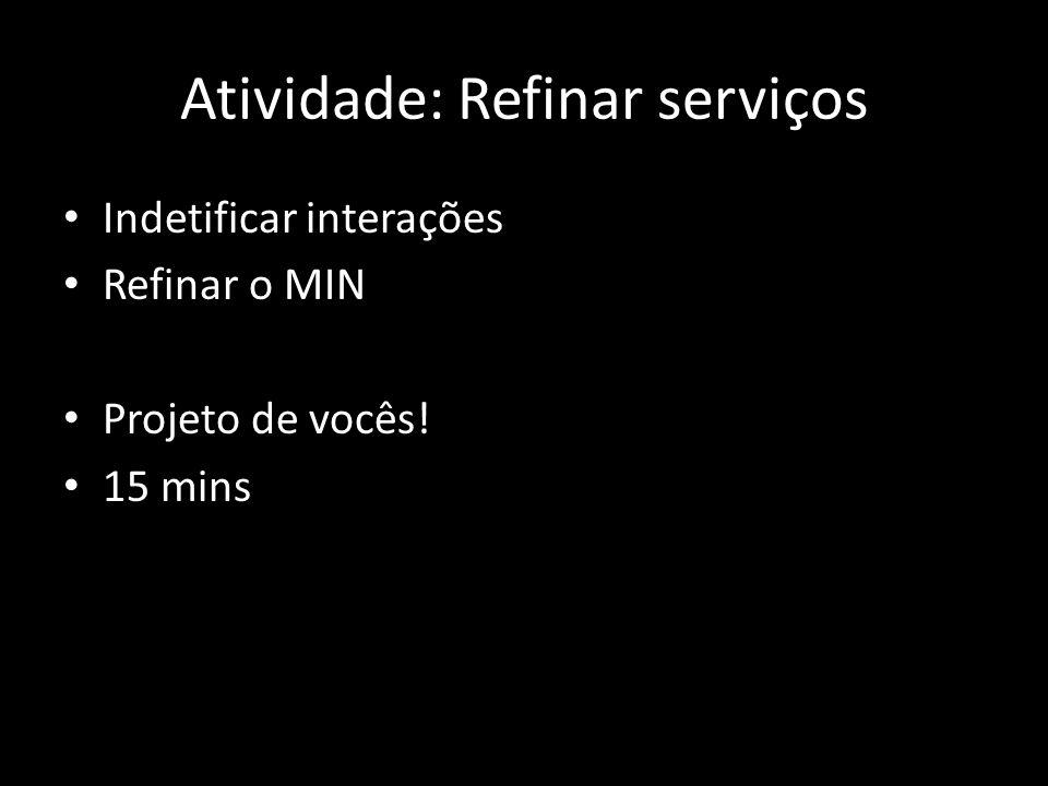 Atividade: Refinar serviços