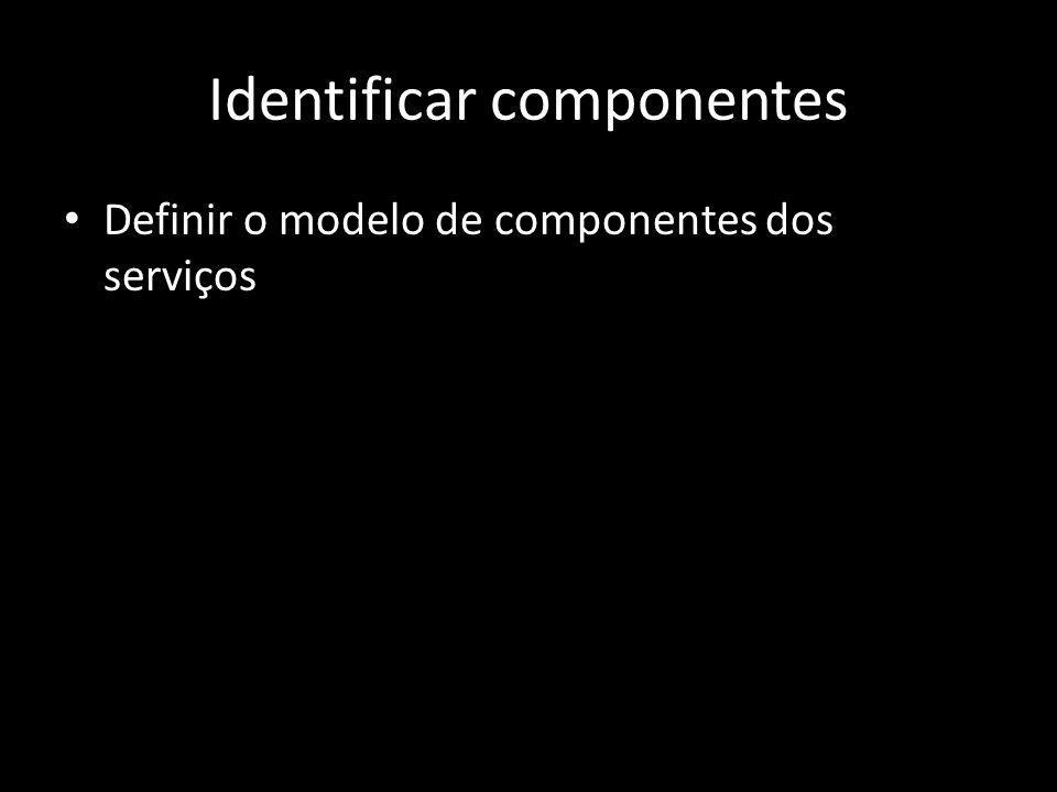 Identificar componentes