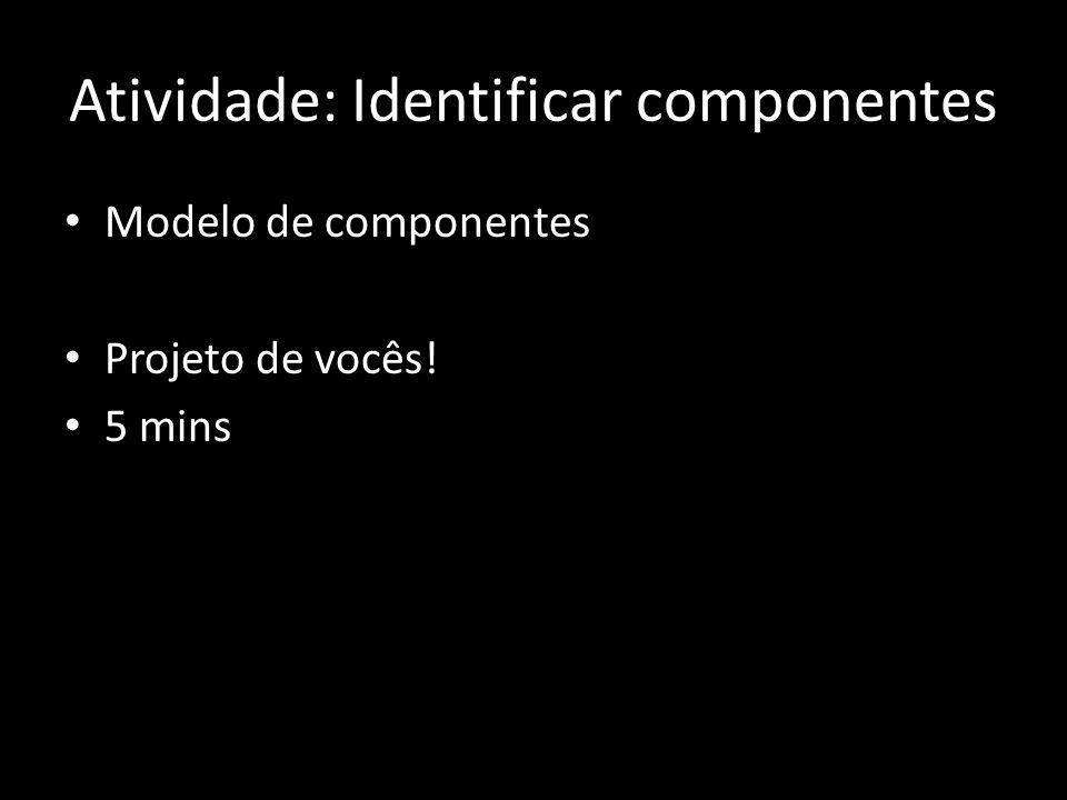 Atividade: Identificar componentes