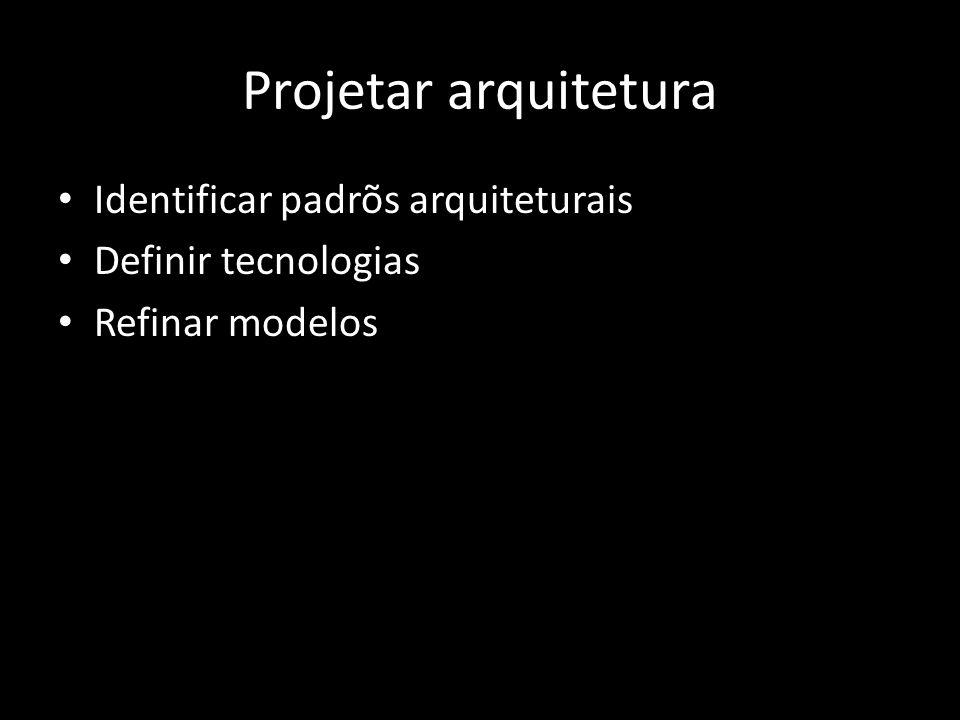 Projetar arquitetura Identificar padrõs arquiteturais