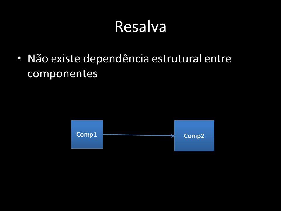 Resalva Não existe dependência estrutural entre componentes Comp1