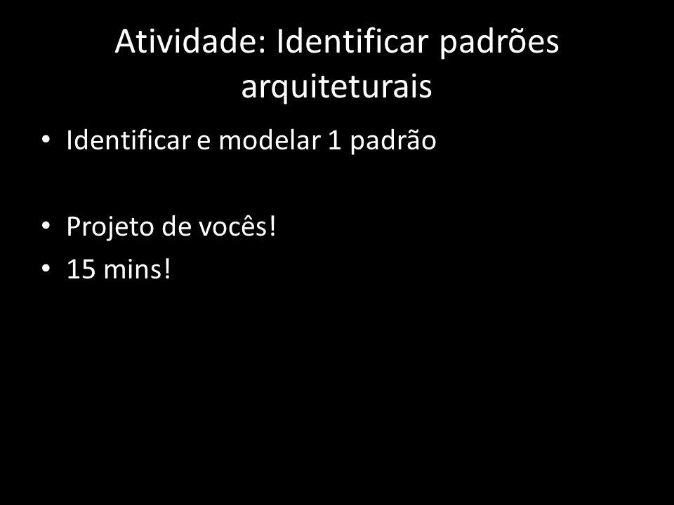 Atividade: Identificar padrões arquiteturais