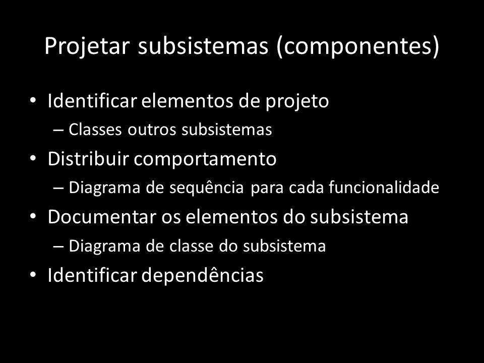 Projetar subsistemas (componentes)