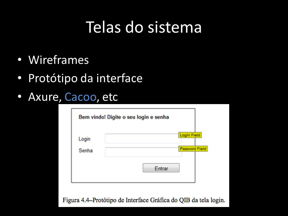 Telas do sistema Wireframes Protótipo da interface Axure, Cacoo, etc