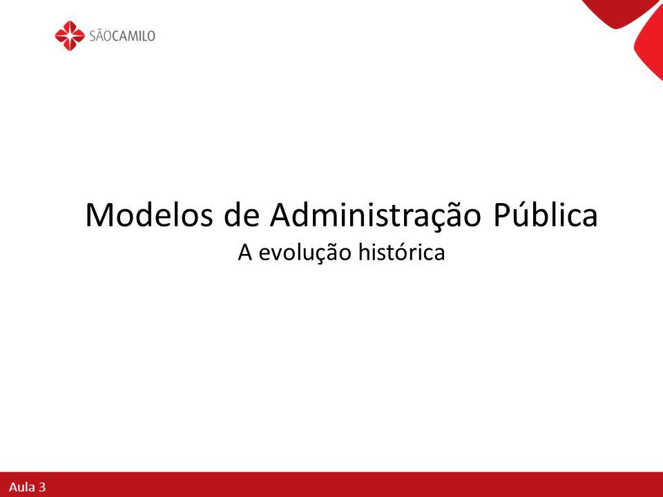 Modelos de Administração Pública A evolução histórica
