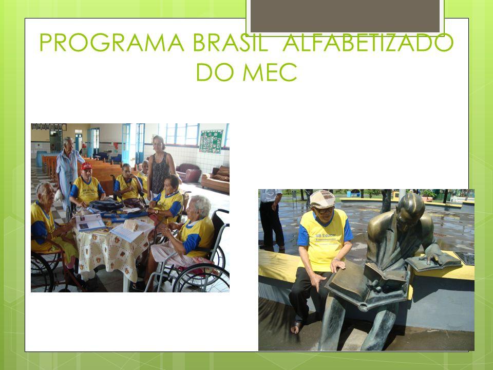 PROGRAMA BRASIL ALFABETIZADO DO MEC