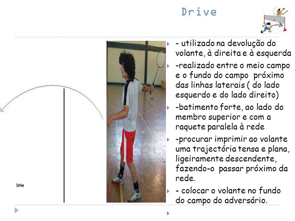 Drive - utilizado na devolução do volante, à direita e à esquerda