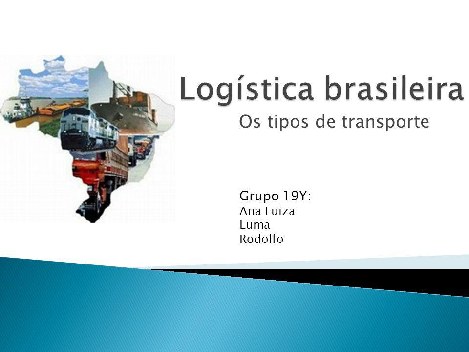 Logística brasileira Os tipos de transporte Grupo 19Y: Ana Luiza Luma