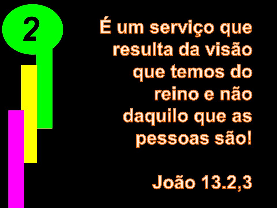 2 É um serviço que resulta da visão que temos do reino e não daquilo que as pessoas são.