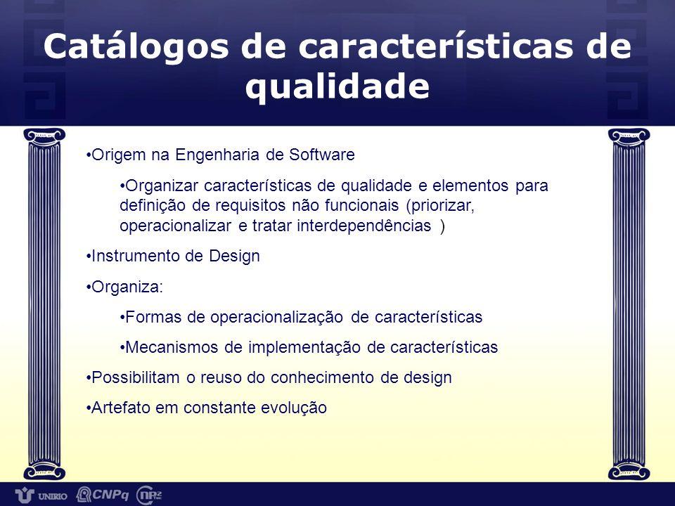 Catálogos de características de qualidade