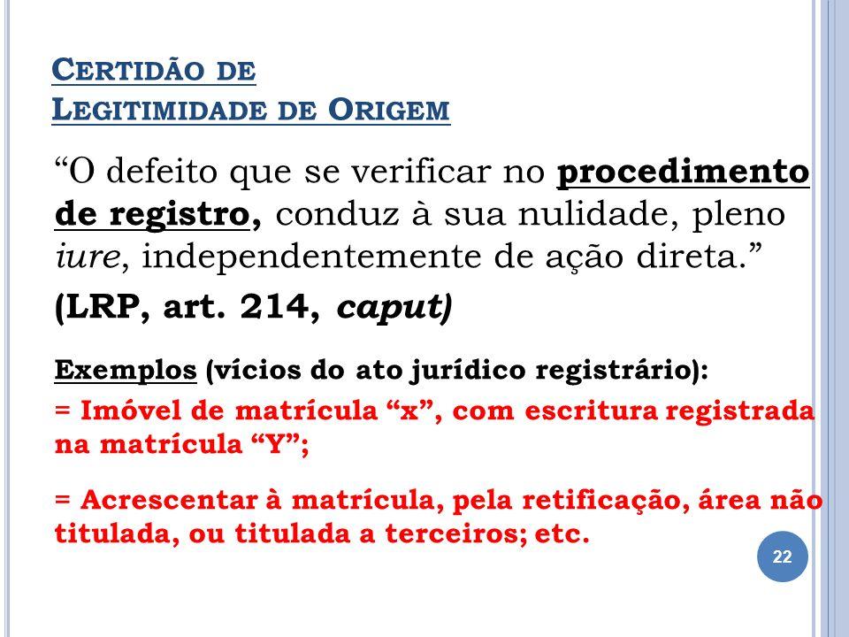 Certidão de Legitimidade de Origem