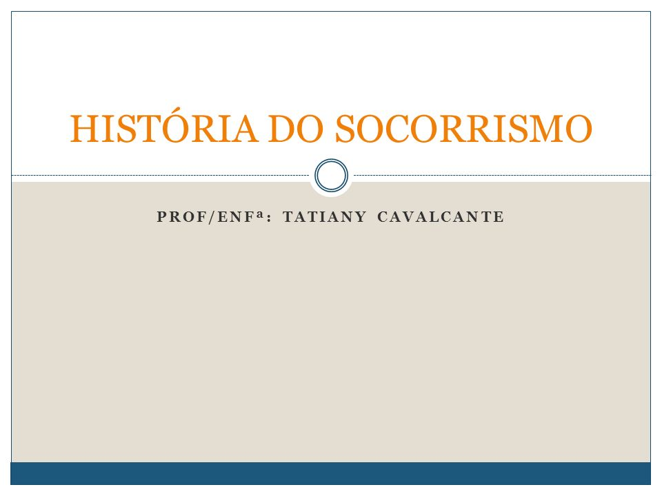 HISTÓRIA DO SOCORRISMO