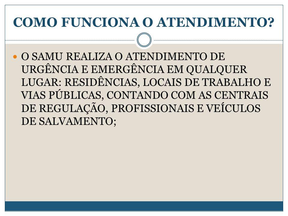 COMO FUNCIONA O ATENDIMENTO