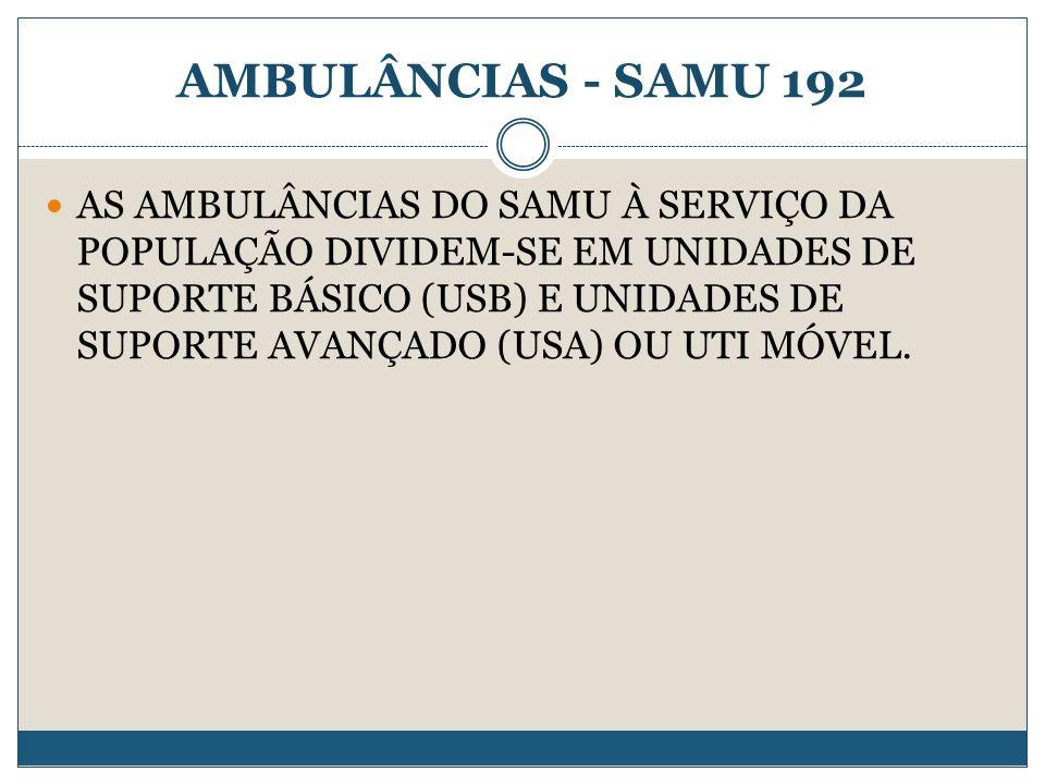 AMBULÂNCIAS - SAMU 192