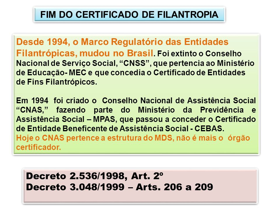 FIM DO CERTIFICADO DE FILANTROPIA