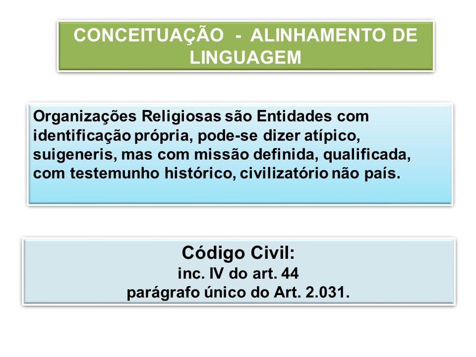 CONCEITUAÇÃO - ALINHAMENTO DE LINGUAGEM