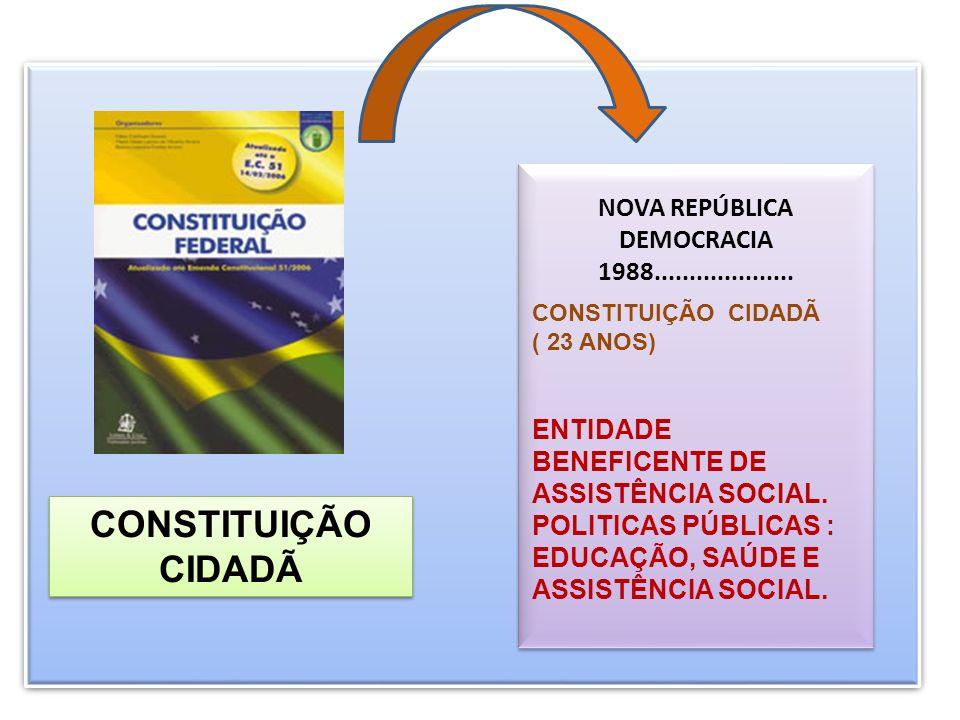 CONSTITUIÇÃO CIDADÃ NOVA REPÚBLICA DEMOCRACIA 1988....................