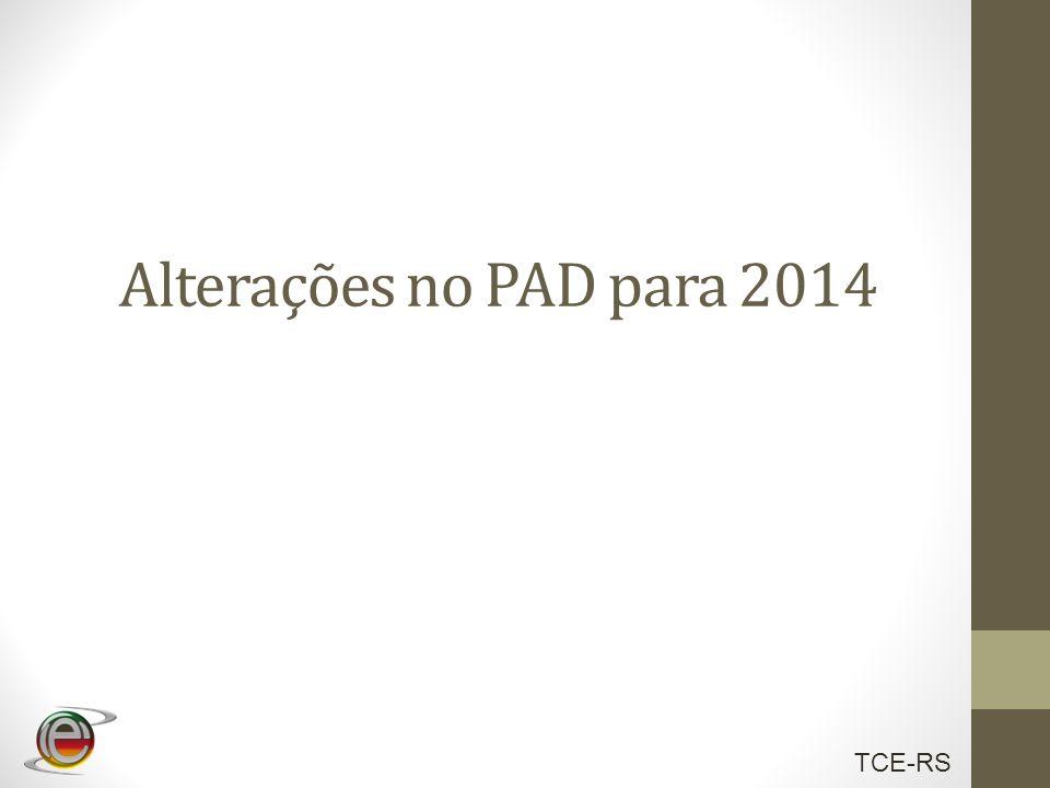 Alterações no PAD para 2014