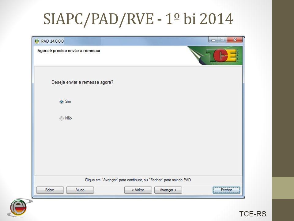 SIAPC/PAD/RVE - 1º bi 2014