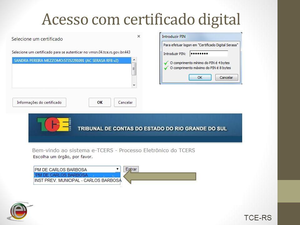 Acesso com certificado digital
